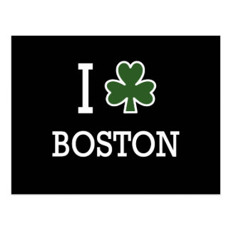 I Heart Boston (green clover) Postcard
