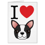 I Heart Boston Terriers Cards