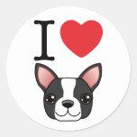 I Heart Boston Terriers Sticker