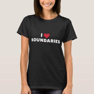 I Heart Boundaries tee (women's dark)