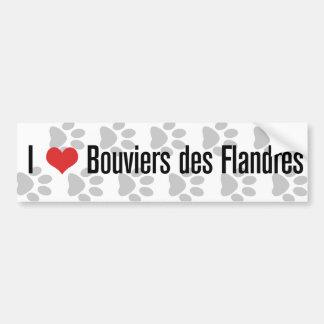 I (heart) Bouviers des Flandres Bumper Sticker