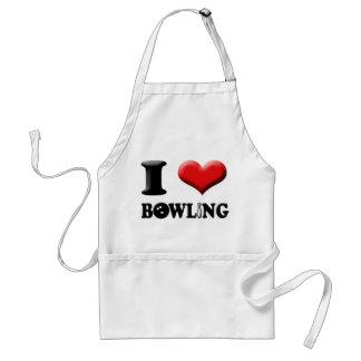 I Heart Bowling Apron