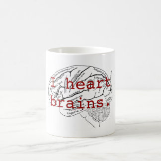 I heart brains. coffee mug