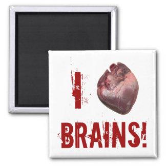 i Heart Brains! Square Magnet