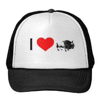 i heart buffaloes cap