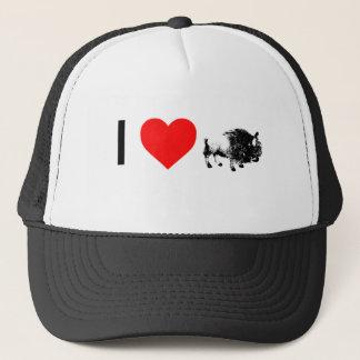 i heart buffaloes trucker hat