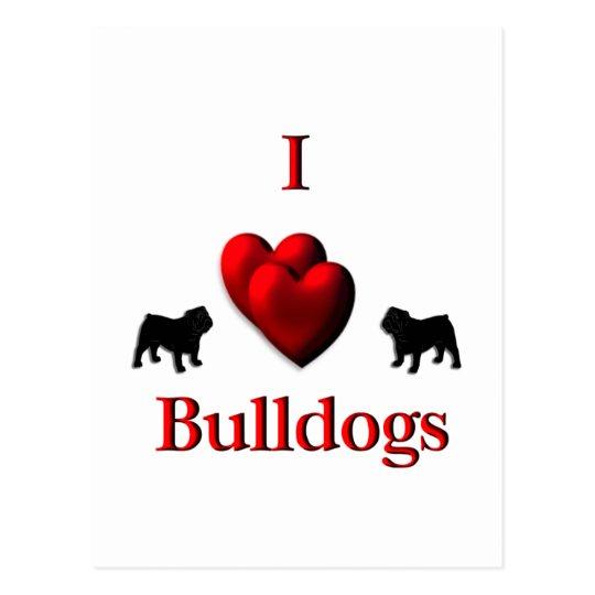 I Heart Bulldogs Postcard