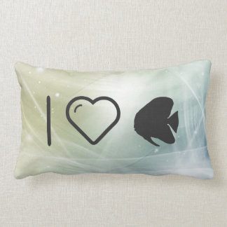 I Heart Butterfly Fishes Throw Cushions