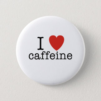 I Heart Caffeine 6 Cm Round Badge
