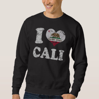 I heart California Flag Cali Sweatshirt