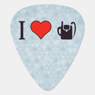 I Heart Calling Using A Dime Plectrum