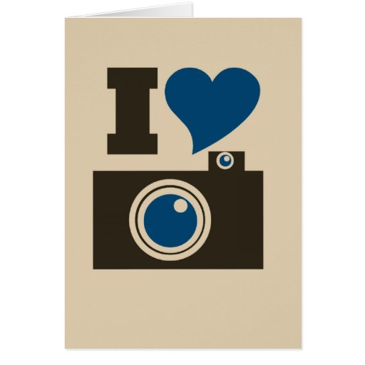 I Heart Camera Greeting Card