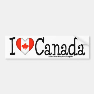 I HEART CANADA BUMPER STICKER