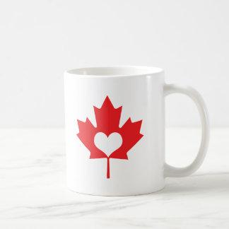I Heart Canada Maple Leaf Coffee Mug