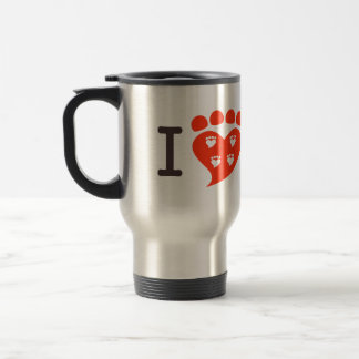 I Heart Canine Science 15 Oz Stainless Steel Travel Mug
