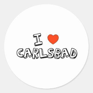 I Heart Carlsbad Classic Round Sticker