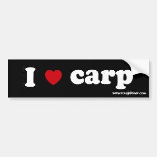 i heart carp sig bumper sticker