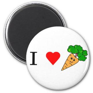 I heart Carrots 6 Cm Round Magnet