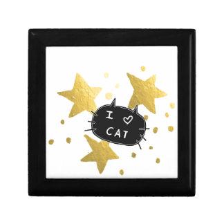 I Heart CAT Gold Stars Gift Box