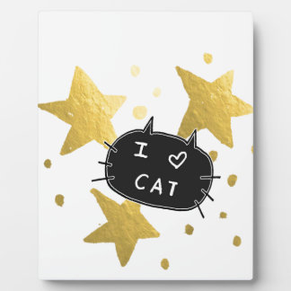 I Heart CAT Gold Stars Plaque