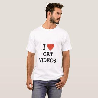 I heart cat videos T-Shirt
