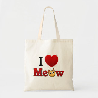"""I Heart Cats"" ""I Love Cats"" Tote bag"