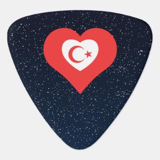 I Heart Celestial Bodies Icon Guitar Pick
