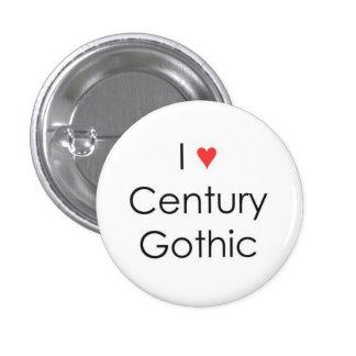 I heart Century Gothic 3 Cm Round Badge