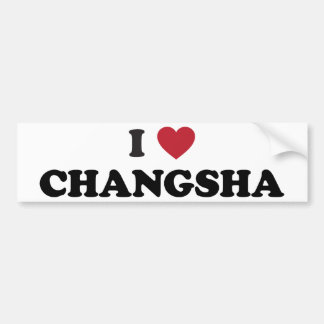 I Heart Changsha China Bumper Sticker