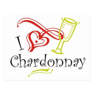 I Heart Chardonnay Postcard