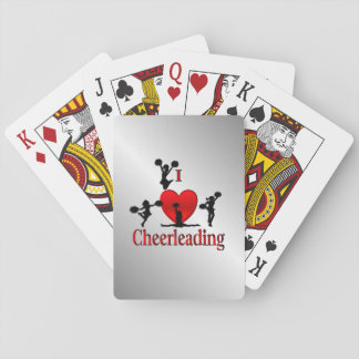 I Heart Cheer Leading Playing Cards