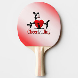I Heart Cheerleading Ping Pong Paddle