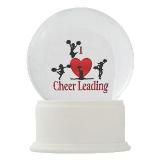 I Heart Cheerleading Snow Globe