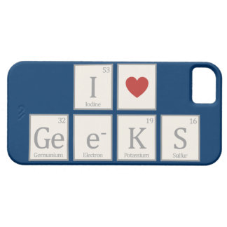 I Heart (Chemistry) Geeks iPhone 5 Case