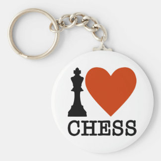 I Heart Chess Key Ring