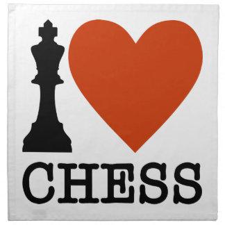 I Heart Chess Napkin