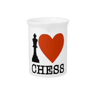 I Heart Chess Pitcher