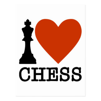 I Heart Chess Postcard