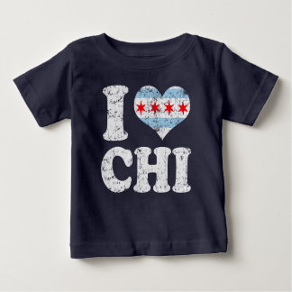 I heart Chicago Flag CHI Baby T-Shirt