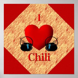 I Heart Chili Poster
