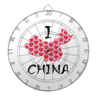 I heart China map Dartboard