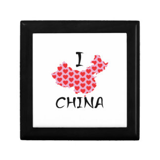 I heart China map Gift Box
