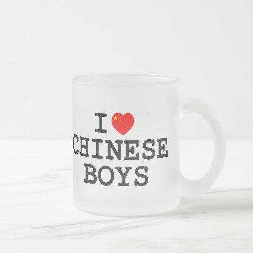 I Heart Chinese Boys Coffee Mugs