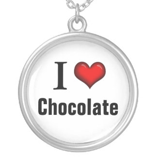 I Heart Chocolate ~ Sterling Silver Necklace
