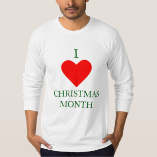 I Heart Christmas Month T-Shirt