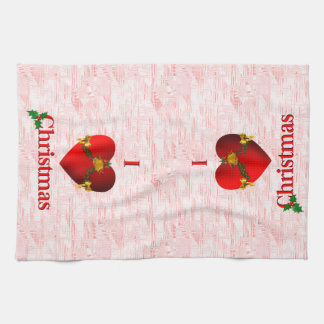 I Heart Christmas Hand Towel