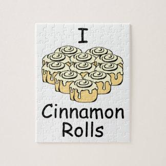 I Heart Cinnamon Rolls Sweet Love Buns Cute Jigsaw Puzzle