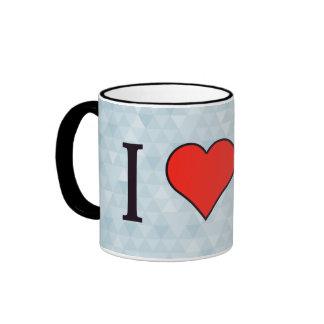 I Heart Cleaning Ringer Mug