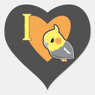 I Heart Cockatiels Heart Sticker