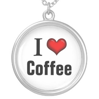 I Heart Coffee ~ Sterling Silver Necklace